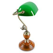 Relaxdays - Lampe de bureau Banquier avec Abat-jour en Verre Vert