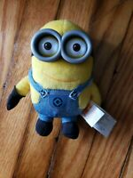 "Ex cond Minion Bob Plush Despicable Me Plush Doll 6"" Thinkway Toys Great cond!"