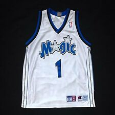100% Authentic Tracy Mcgrady Tmac Champion Orlando Magic NBA Jersey 44 L XL