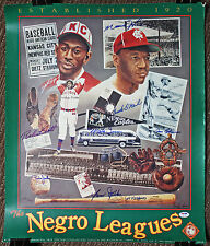 NERGO LEAGUE GREATS SIGNED POSTER BUCK O'NIEL MONTE IRVIN PSA/DNA LOA V07789