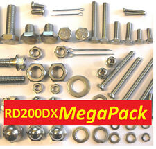 Yamaha RD200DX - Nut / Bolt / Screw Stainless Fasteners MegaPack