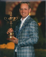 Luke DONALD SIGNED Autograph 10x8 Photo AFTAL COA Ryder CUP WINNER Golf