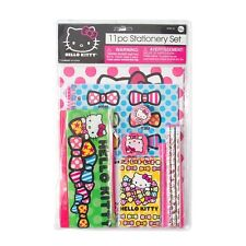 Hello Kitty 11 Piece Stationery Set  School Supplies - NEW