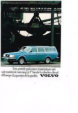 PUBLICITE ADVERTISING  054  1979  VOLVO    beak 6 cylindres