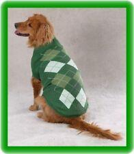 XSmall Dog Sweater Green Argyle Poodle Yorkie Shih tzu Maltese coat Pet Clothing