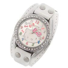 Reloj HELLO KITTY  Blanco con remaches y brillantes watch   A1086