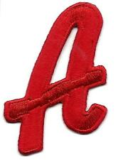 """LETTERS  - Red Script  2"""" Letter """"A"""" - Iron On Embroidered Applique"""