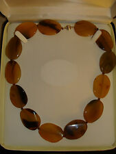 "14K SOLID White Gold Natural Rainforest Agate Necklace 20"" BIN NR  SEE PICTURES"