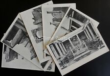 Italy POMPEI Collection of 5 Old Postcards c1902 UB by C. Cotini of Napoli