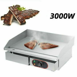 Electric Table  Grill Griddle Hot Plate Steak Cooking Stainless Steel 3000W