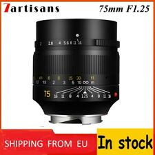 IN STOCK! ✮ 7Artisans 75mm f/1.25 lens, Leica-M-mount SHIPPING FROM EU! ✮75/1.25