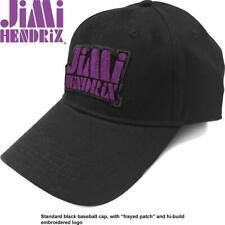 More details for official licensed - jimi hendrix - purple stencil logo baseball cap rock guitar