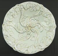 Meissen Porzellan Prunk Teller Schale Weiss Gold Knaufzeitmarke 1. Wahl Ø28 cm