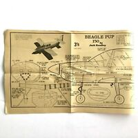 AeroModeller UK Oct 1968 BEAGLE PUP 150 Airplane Scale Model Plan