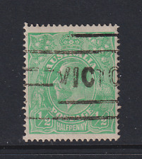 AUSTRALIA  1914: ½d green KGV wmk inverted SG 20w · 2 images