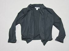 POETRY CLOTHING WOMENS BLACK POLYESTER BUSINESS CASUAL CROP TOP BLAZER MEDIUM
