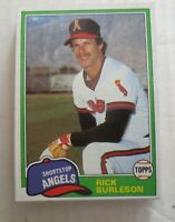 1981 Topps California Angels Rick Burleson Traded #743 Lot Of 19 Ex+ - NM Mint