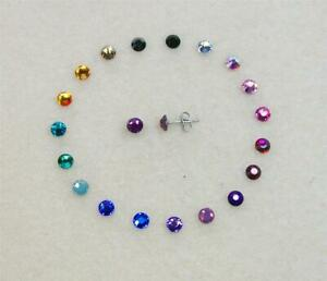 Hypoallergenic Crystal Stud Earrings, using 5mm Swarovski Elements, 17 colours