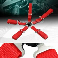 """JDM 2"""" Red Durable Nylon 5-Point Cam Lock Safety Harness Seat Belt Universal 4"""