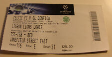 Ticket for collectors CL Celtic Glasgow Benfica Lisboa 2012 Scotland Portugal