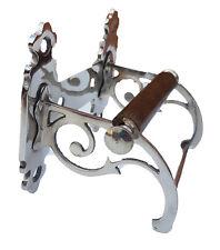 Traditional Vintage Design Victorian Toilet Roll Holder Solid Brass Nickel