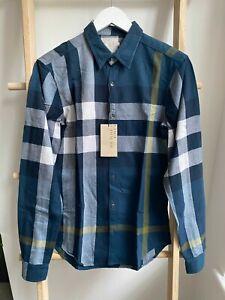 BNWT Burberry Brit Men's Casual Check Shirt Green Sz XS