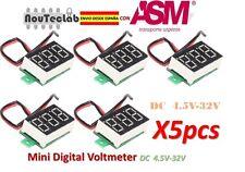 5pcs 0.36 Inch 4.5V-32V Mini Digital Voltmeter LED Screen Voltage Tester Meter