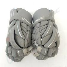 "Warrior EVO Lacrosse Gloves 12"" Medium Grey Gray Aero Foam, Cage FLX, Age 11+"