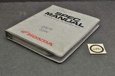 New ListingOem 1996-1999 Honda Motorcycle Atv Scooter Dealer Specs Book Manual Binder
