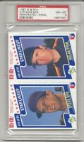 1987 M & M'S PERFORATED PANEL, NOLAN RYAN, PSA 8 NM-MT, RYAN / SAX TOUGH, L@@K !