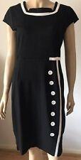 NATURE Long Black Quant Style Button Effect Party Dress Size XL