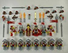 14 Lego Castle Kingdoms Red Lion Knight Minifigures w/ SHIELDS & SWORDS