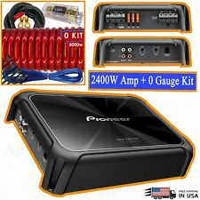 Pioneer Gm-D9701 2400 Watts Class D Mono Amplifier Car Audio + 0 Gauge Amp Kit
