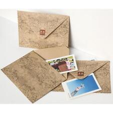 10Pcs Vintage Retro Kraft Paper Envelope Business Festival Xmas-Greeting