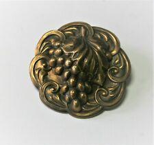 Vintage Antique Extra Large XL Grapes 2 piece Brass Button