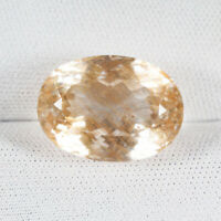 15.31 ct RARE KIND OF UNTREATED 100% NATURAL GOLDEN RUTILE TOPAZ  Oval  C Vdo !!