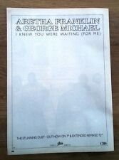 GEORGE MICHAEL / Aretha Franklin 'Knew You... magazine ADVERT/Poster 11x8 inches