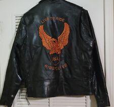 Diamond Plate™ Men's Hand-Sewn Genuine Buffalo Leather Jacket Size L