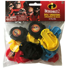 INCREDIBLES 2 MINI DISC SHOOTERS (12) ~ Birthday Party Supplies Favors Toys