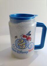 Walt Disney World 25th Anniversary Sorcerer Mickey Coca Cola Plastic Mug w/cover