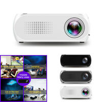 YG320 HD 1080P LED Mini Portable Home Projector With Built-in Battery Black Hot