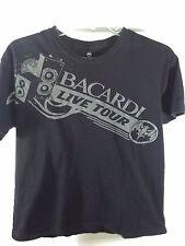 L black T-Shirt BACARDI live TOUR drink BOOZE party BAR rum UBER home NO DRIVE