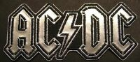 "AC/DC AUFBÜGLER / EMBROIDERY PATCH # 52 ""LOGO SILBER"""