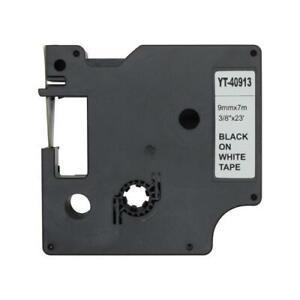 3x Schriftband DYMO D1 40913 S0720680 kompatibel Schwarz/Weiß 9mm Kassette
