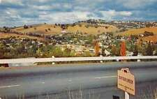 Sutter Creek California panoramic birds eye view Hwy 49 vintage pc Z18104