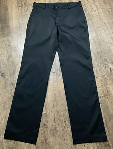 Men's NIKE GOLF Dri-Fit Black Straight Leg Trousers size W32 L34  Vgc #BE