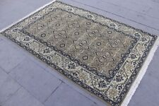 "Vintage Handwoven Turkish Oushak Rug 80""x51"""