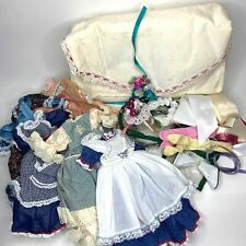 Vintage Robin Woods Doll Clothes Lot Dresses Ribbon Boot Storage Case