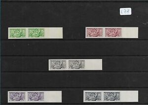 SMT, Monaco,1951, visiting card stamps set of five, in paire imperf, MNH lot 2