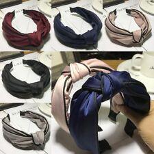 Femmes Casual large bandeaux en tissu Head Hoop bandeaux cheveux Accessoires